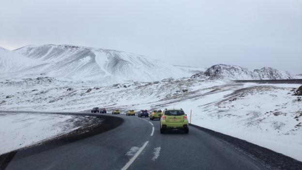 Subaru XV Crosstrek Hybrid in Iceland (Credit: David G Allan)