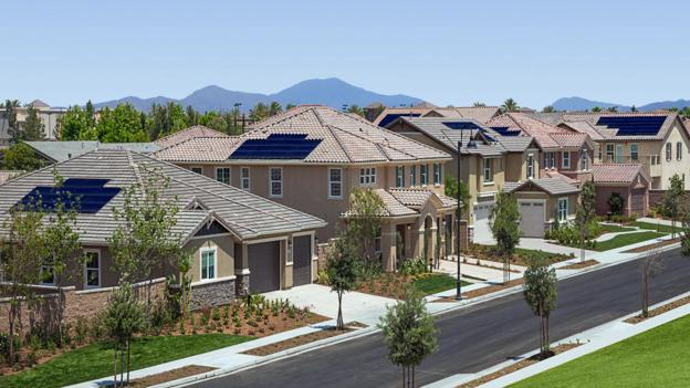 One neighbourhood equipped with solar
