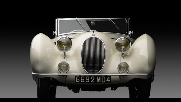 1938 Talbot-Lago T150-C SS Teardrop Cabriolet by Figoni et Falaschi (Credit: Michael Furman/RM Auctions)
