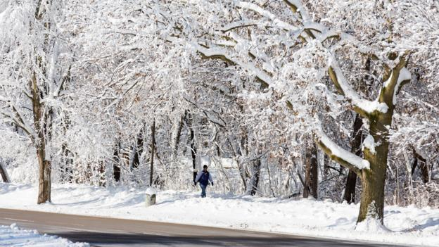 The University of Wisconsin after a record snow fall (Credit: Andy Manis/Getty)