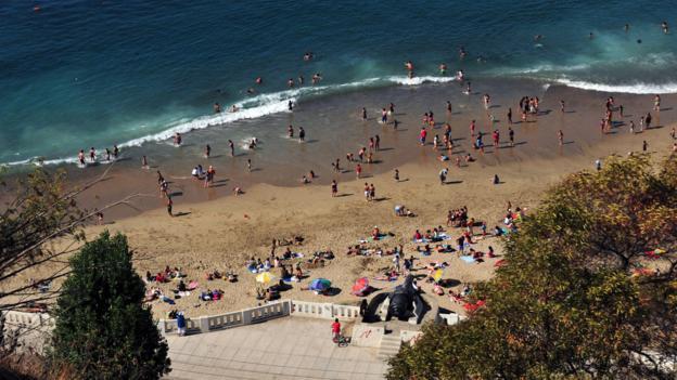 View of a Valparaiso beach (Credit: Martin Bernetti/AFP/Getty)