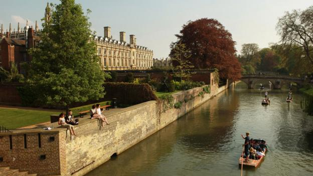The River Cam in front of the colleges of Cambridge University (Credit: Oli Scarff/Getty)