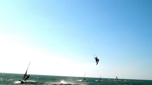 A kitesurfing paradise (Credit: Kiran Herbert)