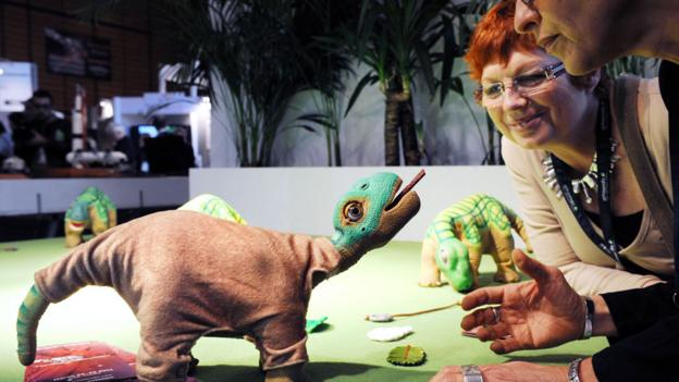 Pleo the dinosaur (Credit: Philippe Merle /AFP/Getty)