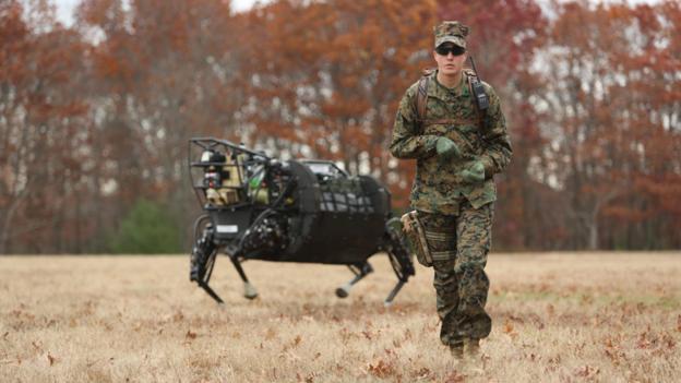Military bot (Credit: USMC/Kyle J. O. Olson)