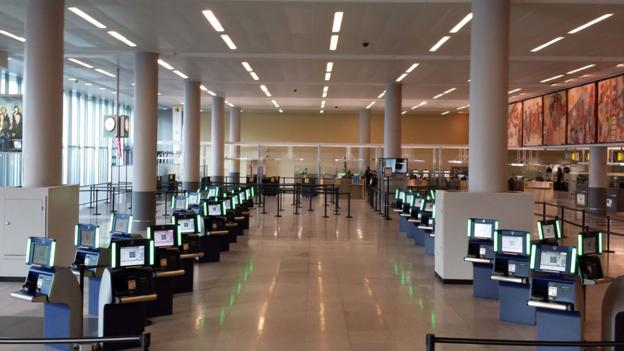 Delta's automated passport control kiosks at JFK (Credit: Delta Air Lines)