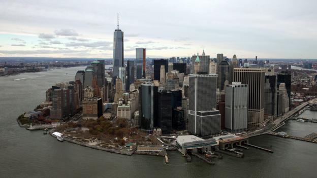 One World Trade Center towers over lower Manhattan (Credit: Andrew Burton/Getty)