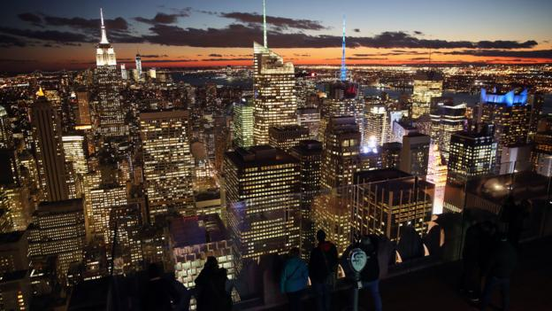 A view of Manhattan from the Top of the Rock observation deck (Credit: John Moore/Getty)
