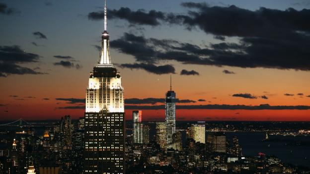 A view of the Empire State Building and One World Trade Center (Credit: John Moore/Getty)