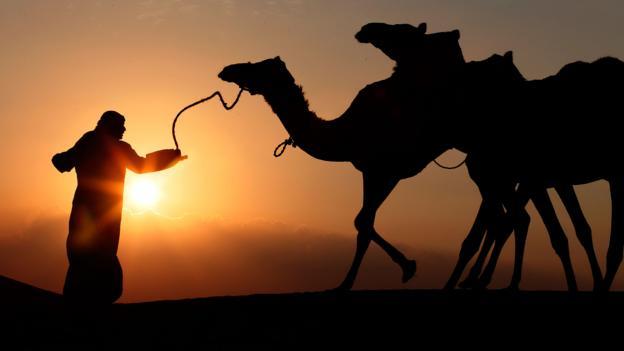 A tribesman in the Liwa desert (Credit: Karim Sahib/AFP/Getty)