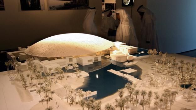 A model of the new Louvre Abu Dhabi museum (Credit: Thomas Coex/AFP/Getty)