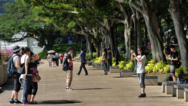 Elizabeth Walk Park in Singapore (Credit: Roslan Rahman/AFP/Getty)