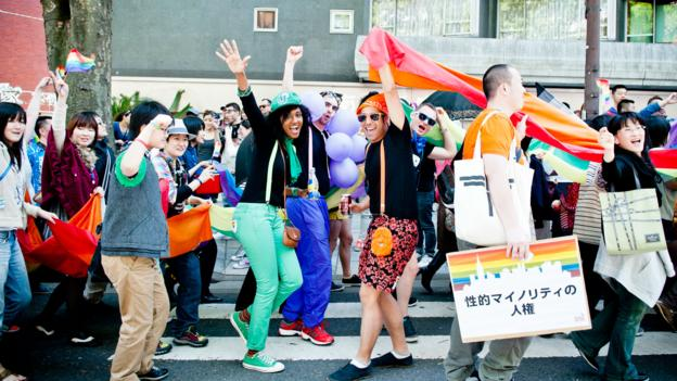 Participants in the Tokyo Rainbow Pride parade (Credit: Keith Tsuji/Getty)