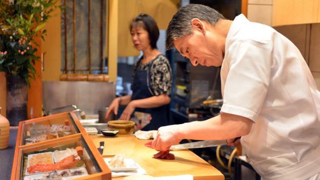Sushi at a high-end restaurant in Tokyo (Credit: Yoshikazu Tsuno/AFP/Getty)