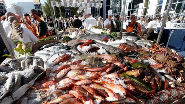 Fresh fish in Monaco (Credit: Valery Hache/AFP/Getty)