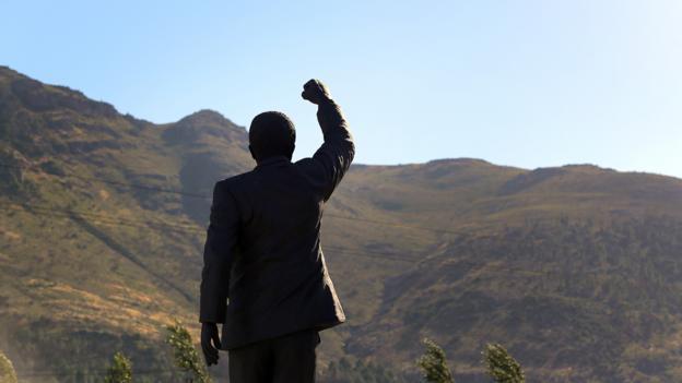 A statue of Mandela outside the Victor Verster Prison (Credit: Jennifer Bruce/AFP/Getty Images)