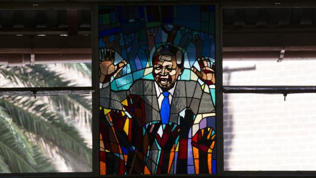 A stained-glass tribute in Soweto (Credit: Getty Images)
