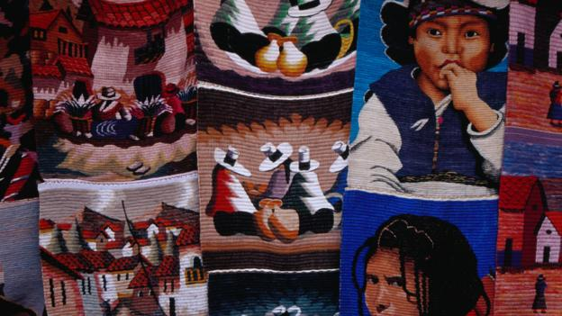 Woollen tapesteries for sale in Otavalo (Credit: Richard I'Anson/Getty)