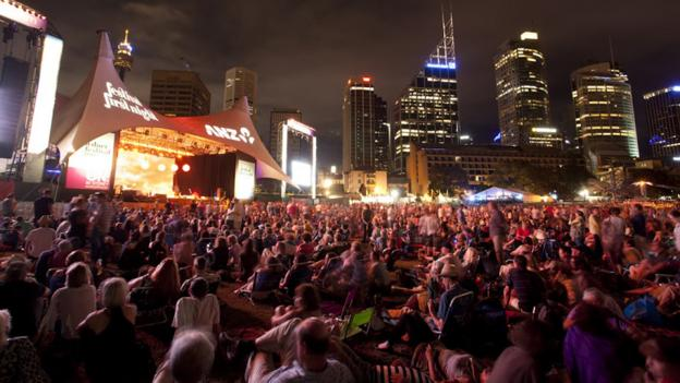 Sydney Festival in The Domain (Credit: Jamie Williams)