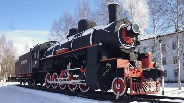 A locomotive in Tynda (Credit: Anna Kaminski)