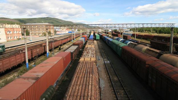 The Severobaikalsk train yard (Credit: Anna Kaminski)