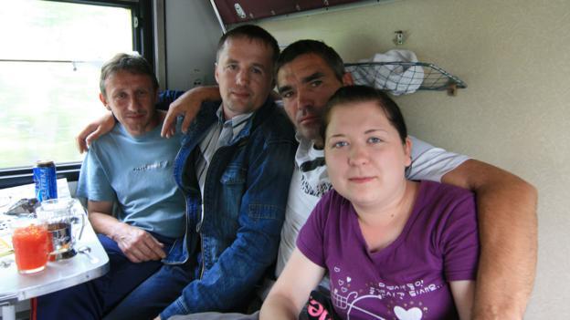 From left: Yura, Valera, Andrei and Tanya (Credit: Anna Kaminski)