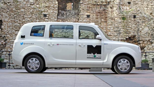 Frazer-Nash Range Extended Electric Metrocab taxi (Credit: Frazer-Nash Research, via Newspress)