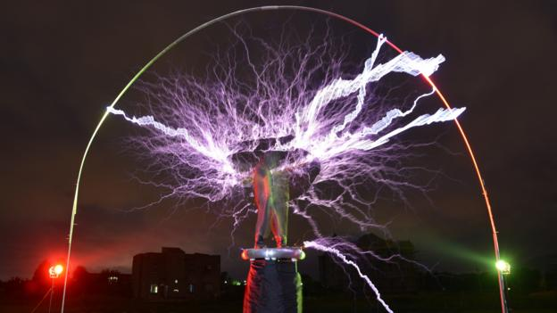 A Tesla Coil creates lightning. (Peter Parks/AFP/Getty Images)