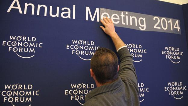 Business leaders gather in Davos for the World Economic Forum (AFP/Getty)