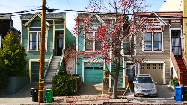 Victorian row houses in Dogpatch (Credit: Kimberley Lovato)
