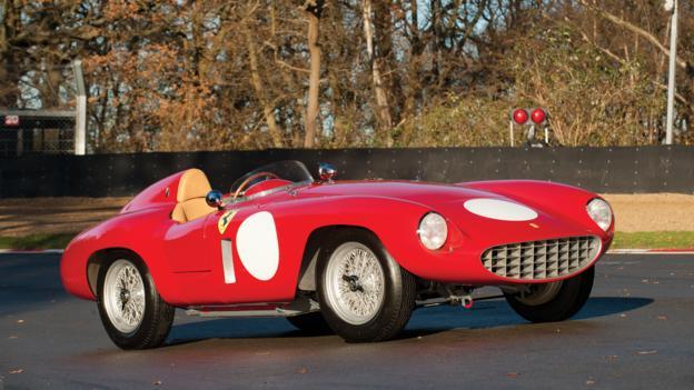 1955 Ferrari 750 Monza Spider by Scaglietti (Credit: Tom Wood/RM Auctions)