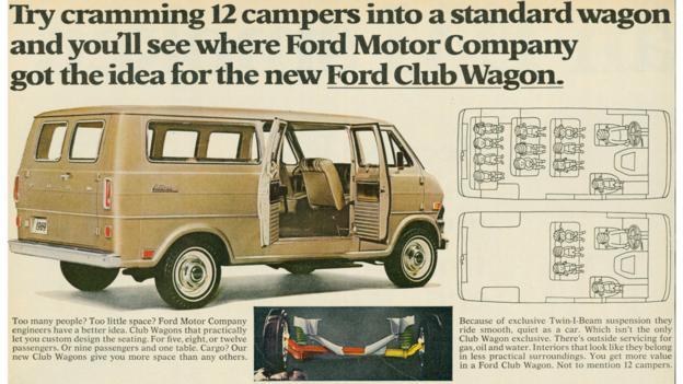 1969 Ford Club Wagon (Credit: Ford Motor)