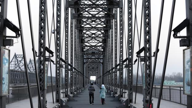 The China-North Korea Friendship Bridge (Credit: Frederic J Brown/AFP/Getty)