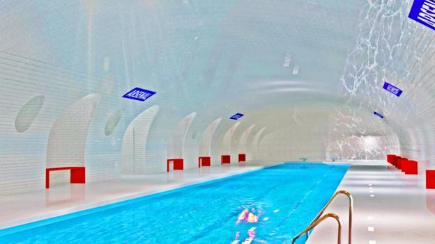 A proposed pool in Paris' metro (Credit: Oxo architectes/Laisné Architecte)