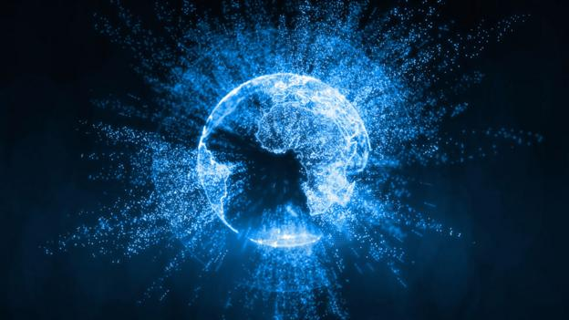 Planet Earth surrounded by data, (Thinkstock)