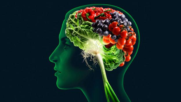 Woman with a brain made of food (Science Photo Library)