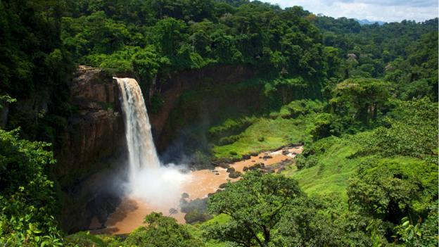 Lush jungle and the Ekom-Nkam Falls (Credit: Cultura RM/Philip Lee Harvey/Getty)