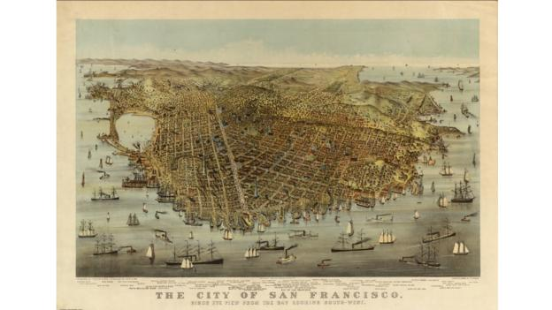 Historic San Francisco (Credit: David Rumsey Map Collection)