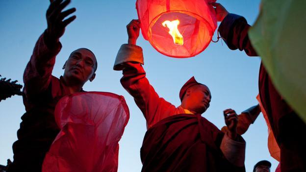 Devout Mongolians celebrate the birth of Buddha (Credit: Taylor Weidman/LightRocket/Getty)