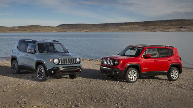 2015 Jeep Renegade Trailhawk and Renegade (Credit: Chrysler Group)
