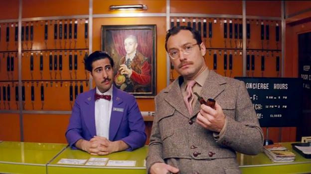 Jason Schwartzman and Jude Law in The Grand Budapest Hotel (Fox Searchlight)