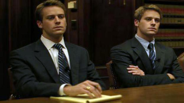 Creative disputes in 'The Social Network', starring Armie Hammer. (Columbia Pictures)