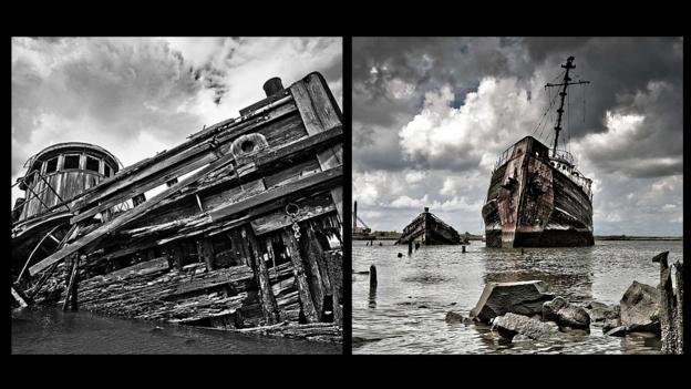 Staten Island's Witte Marine Scrap Yard (Credit: John Horne)