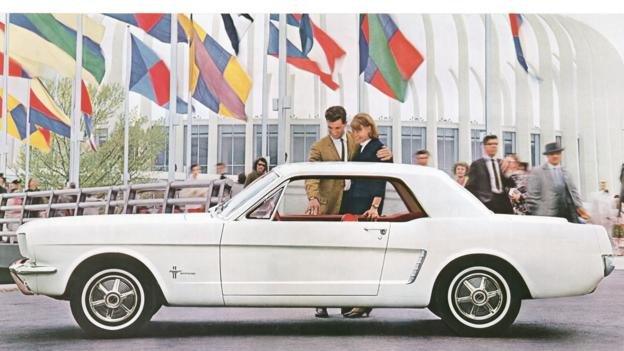 A print advert for the Mustang (Credit: Ford Motor)