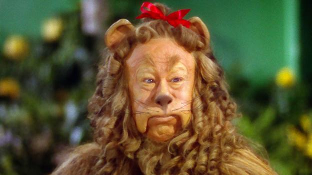The cowardly lion in The Wizard of Oz (Metro Goldwyn Mayer)