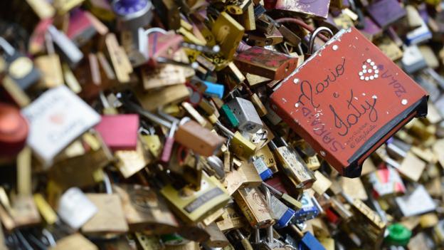 Locking down love (Credit: Pascal Le Segretain/Getty)