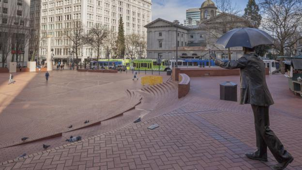 A rare quiet moment in Pioneer Square (Credit: Steve Lewis Stock-Getty)