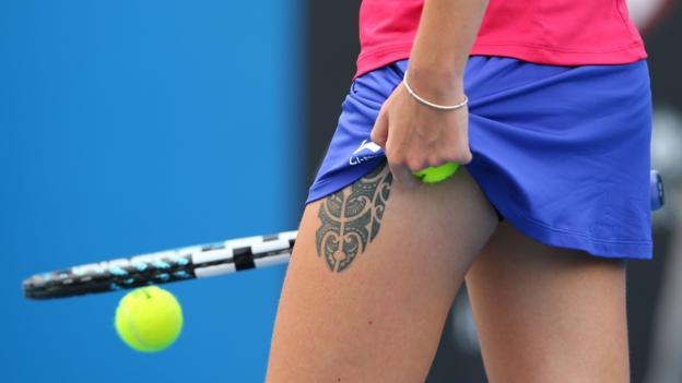 Czech tennis player Karolina Pliskova's tattoo. (Mark Kolbe/Getty Images)