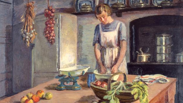 Vanessa Bell, The Kitchen, 1943. (Estate of Vanessa Bell, courtesy Henrietta Garnett)