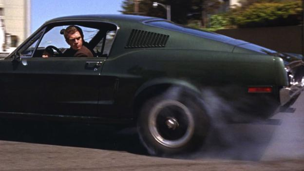 Steve McQueen and his Mustang in the 1968 film, Bullitt (Credit: Photos 12/Alamy)